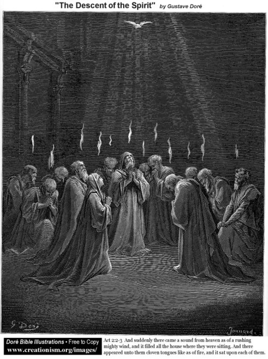 The Descent of the Spirit, Gustave Doré (1832-1883)