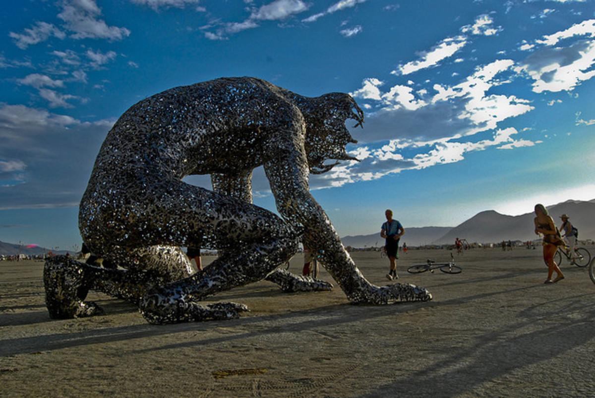 The Burning Man festival features many unique art installations and truly magnificent sculptures - such as the 'Koilos' sculpture shown above (by Michael Christian).