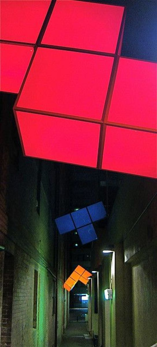 These fun light sculptures can be found in Abercrombie Lane, just off George Street in Sydney, Australia.