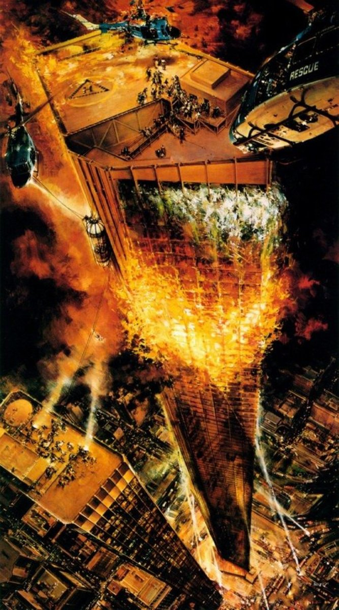 John Berkey the Towering Inferno