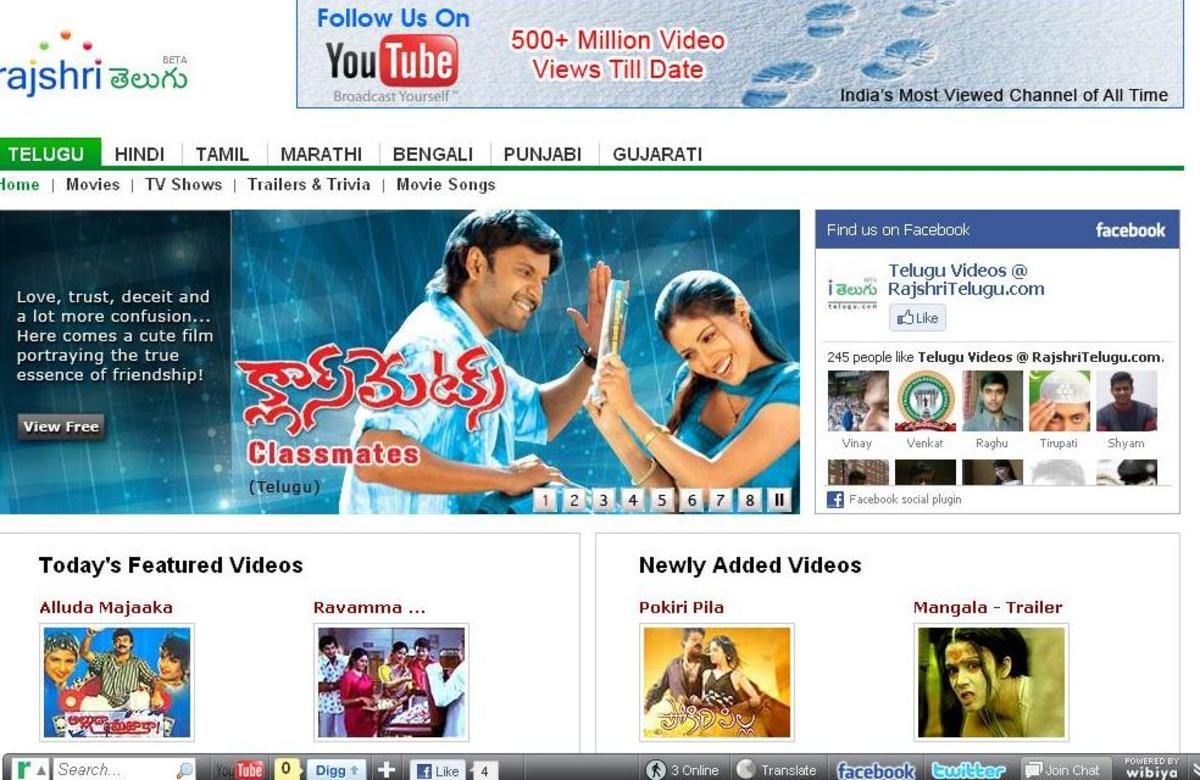 Watch free online movies Hindi, tamil, telugu, kannada, Bengali, Malayalam