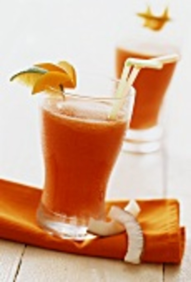 Papaya with Coconut Drink