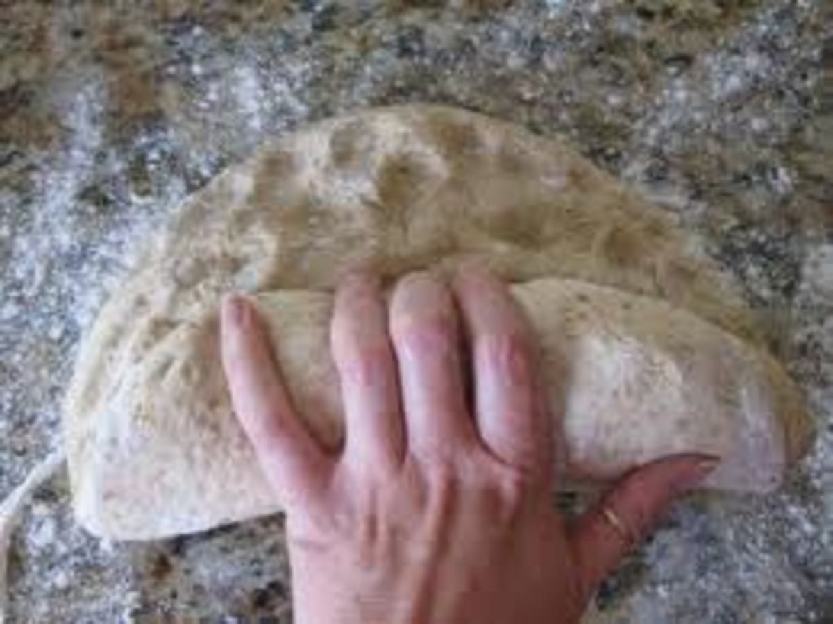 Fingertip punching marks should hold their shape in the dough. Not to hard now!