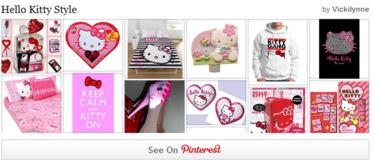 Follow our Hello Kitty Pinterest Board
