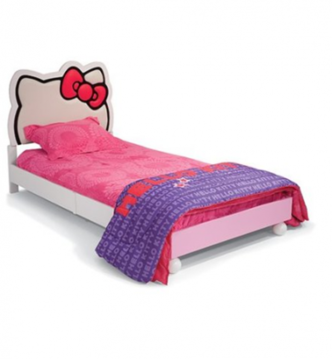 low priced 1d7ad dc9e3 Kitty Bed: Queen Size Hello Kitty Bed Frame