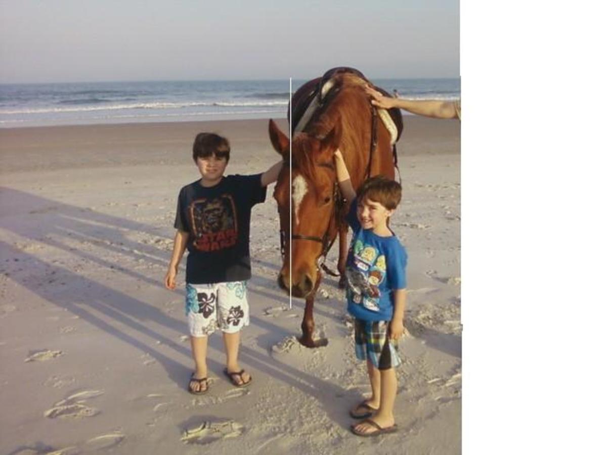 Ride horses on the beach!