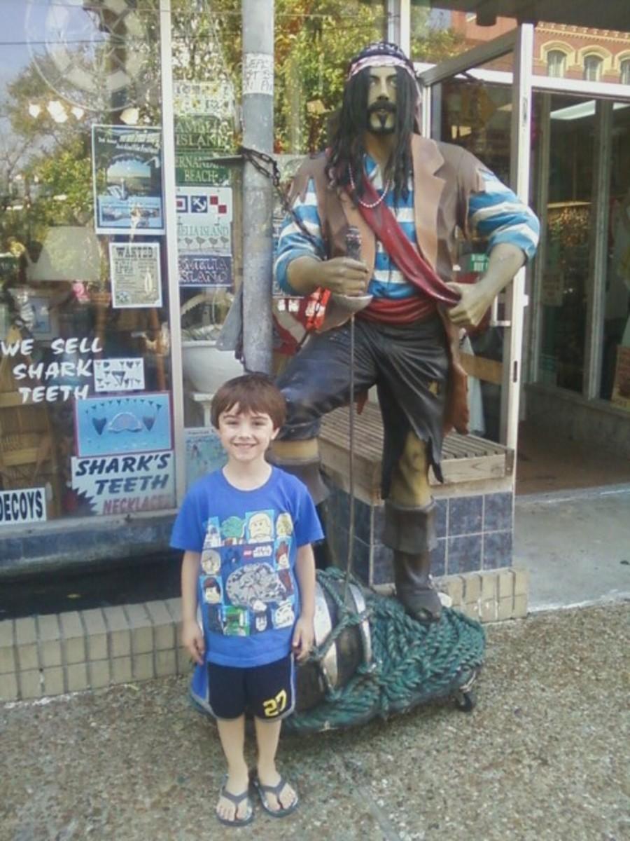 Tristan in downtown Fernandina Beach.