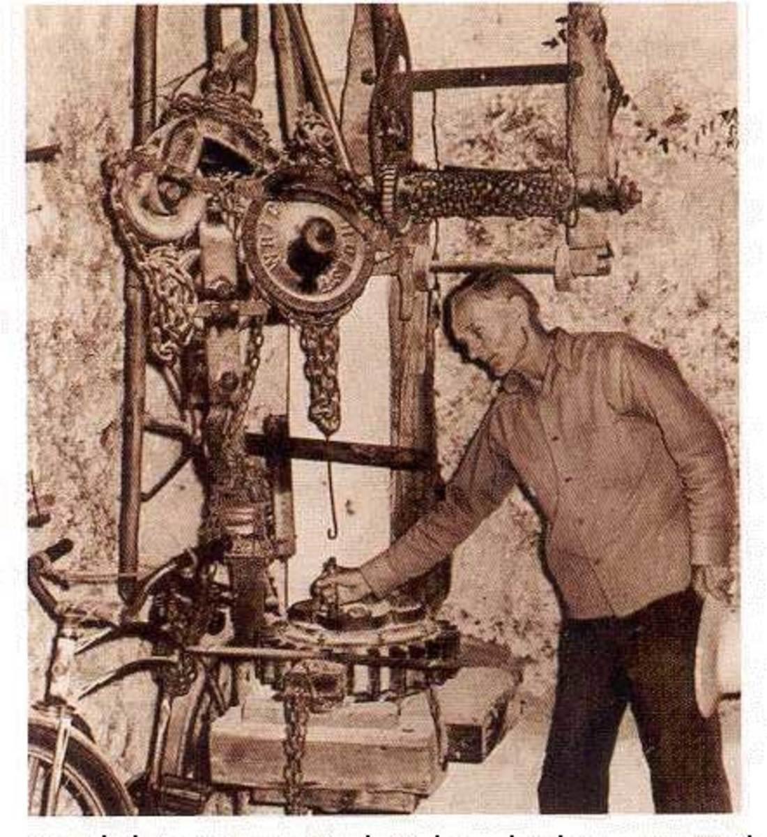 Ed Leedskalnin's Magnetic Flywheel Aparatus
