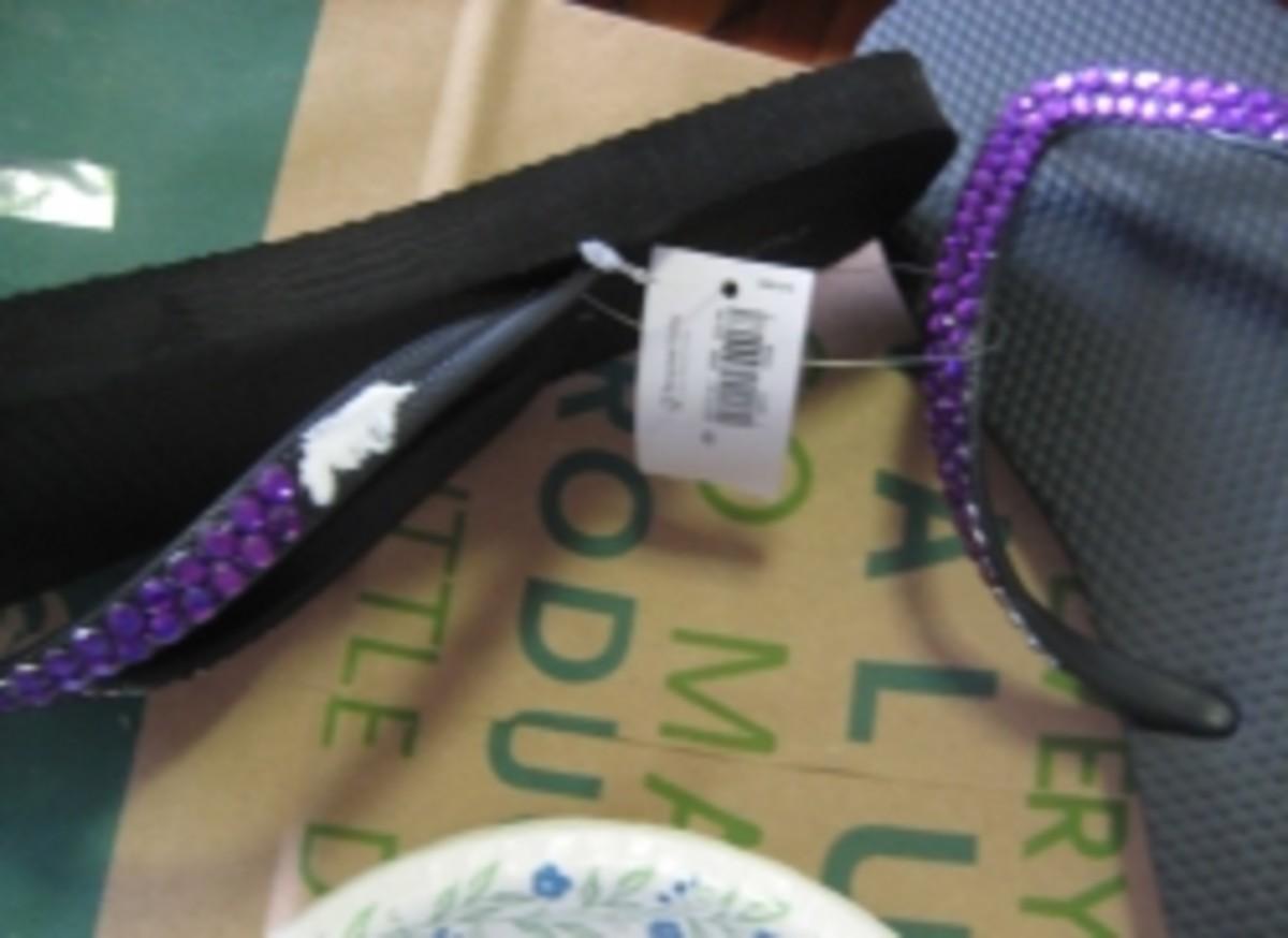 Making bedazzled flip flops