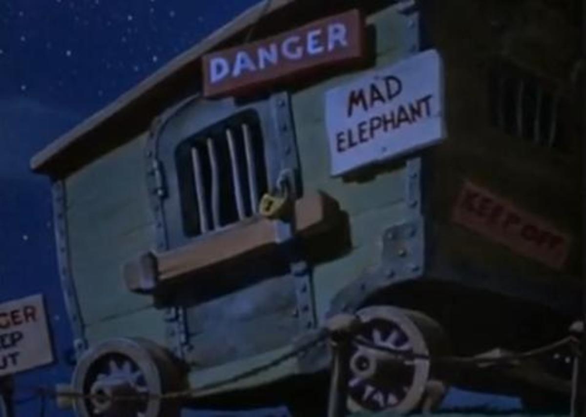 Dumbo's mother imprisoned