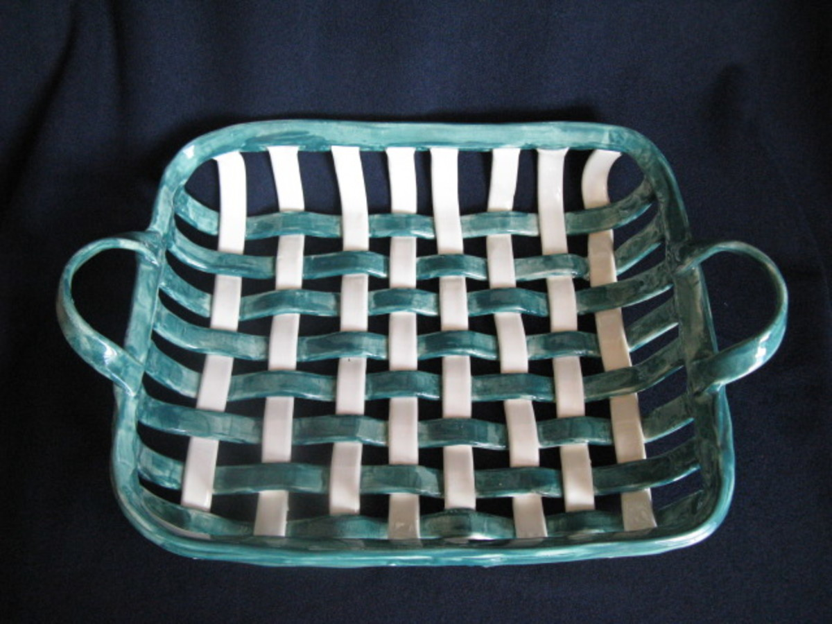 Woven Basket Building : Woven pottery baskets