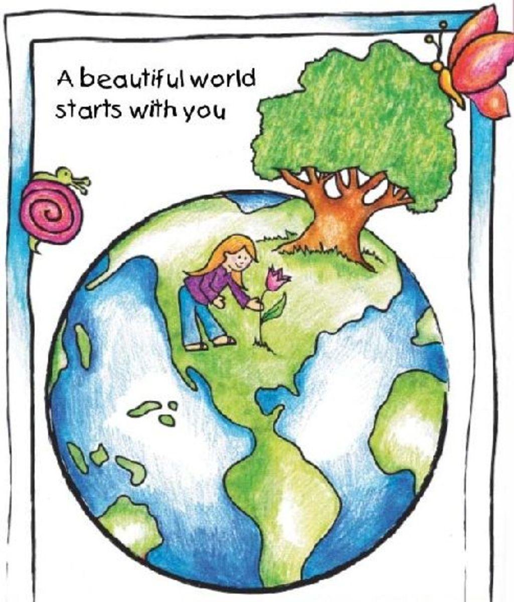 Beautiful World Earth Day Book