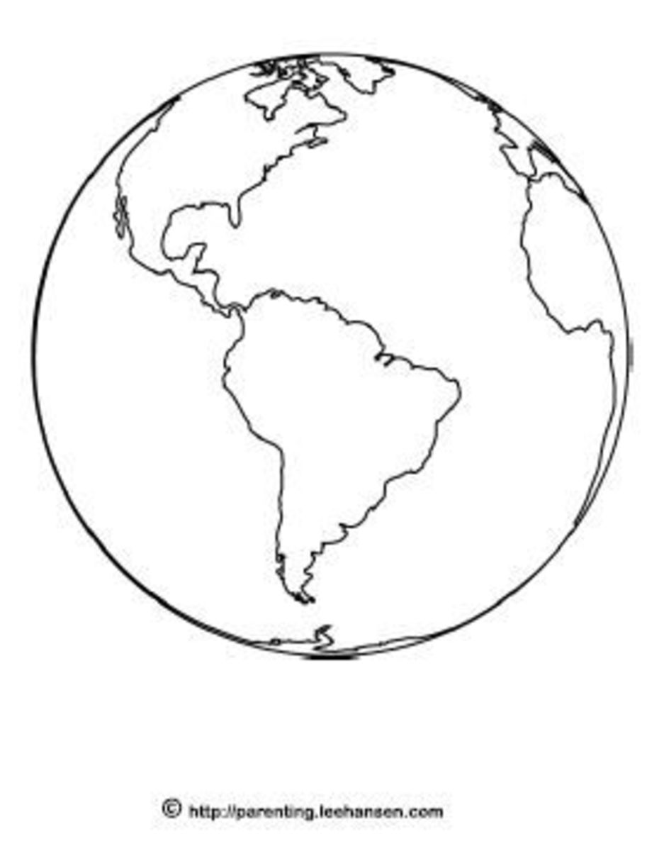 Earth coloring page printable, lee hansen