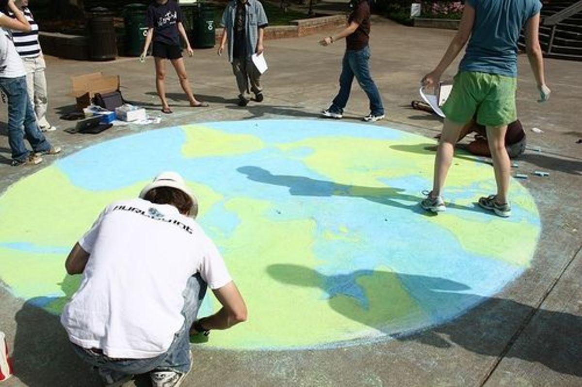 Earth Day Sidewalk Chalk Art