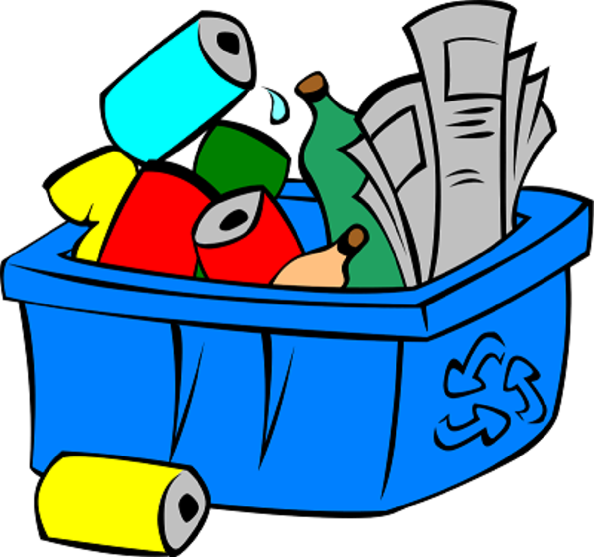 Recycle Bin Earth Day Clip Art