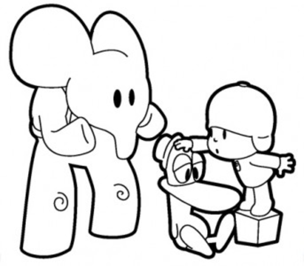 Having Fun with Free Pocoyo Coloring Pages | hubpages