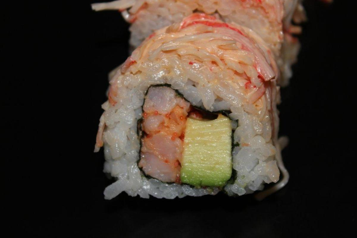 American Sushi Roll: Spicy Shrimp with Avocado