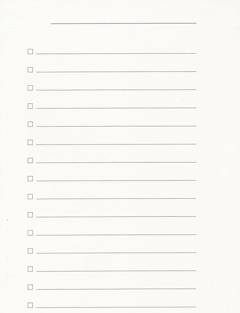 Blank Check List