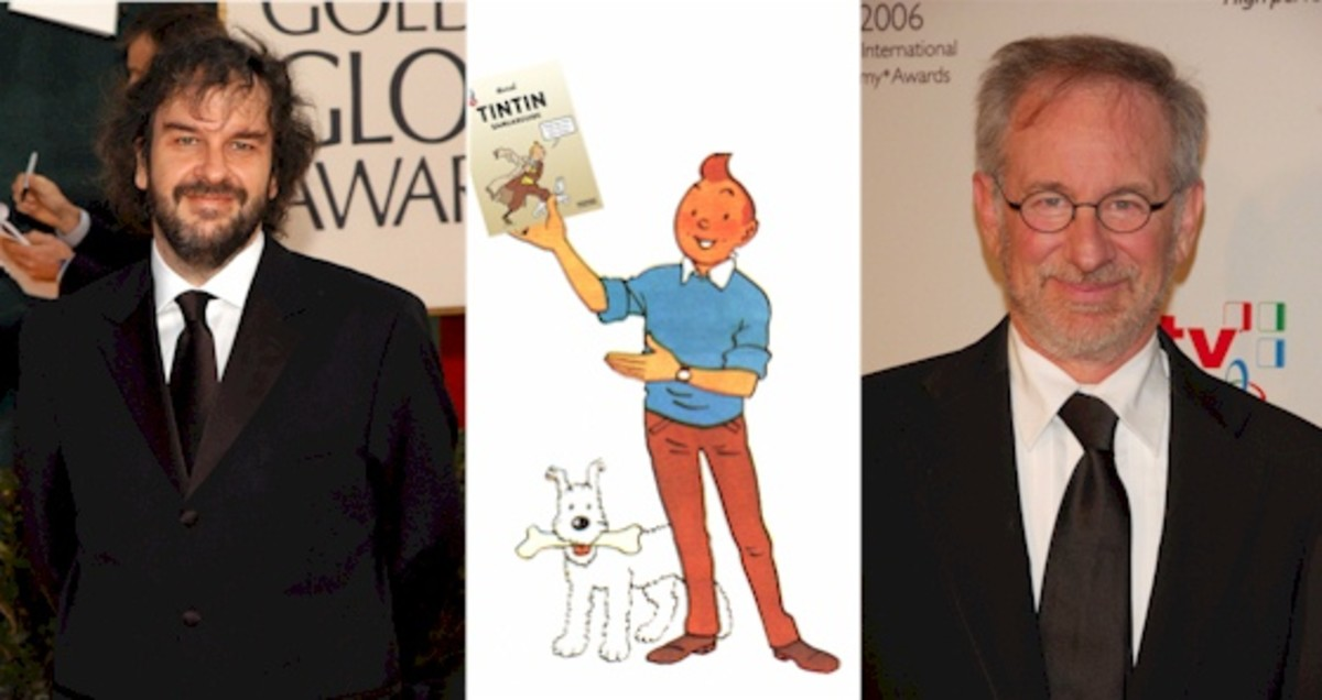 Jackson and Spielberg- united in a vision to bring Tintin to big screen