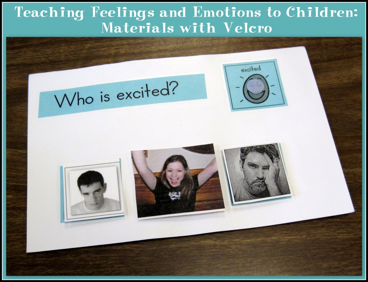 Teaching Feelings and Emotions to Children: Materials with Velcro
