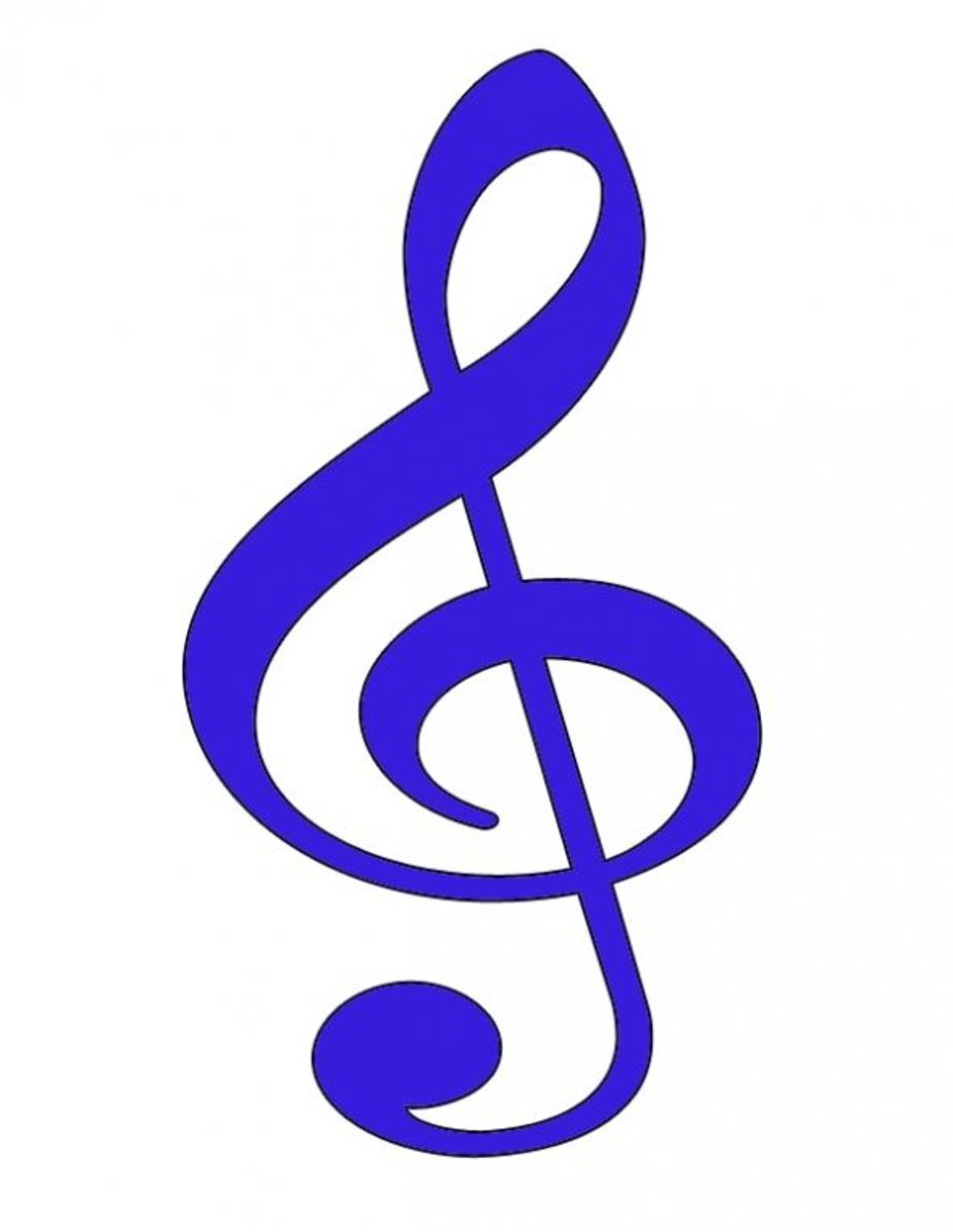 Treble Clef Purple