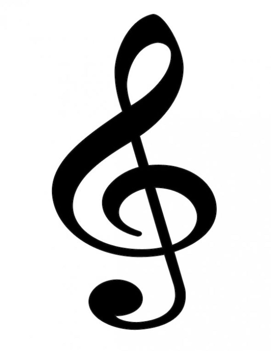 Treble Clef Black
