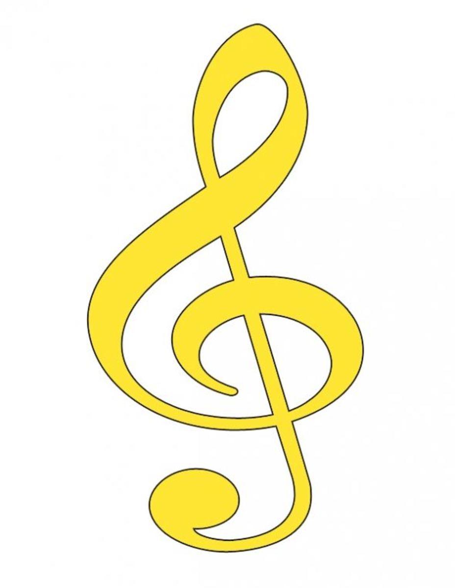 Yellow Treble Clef