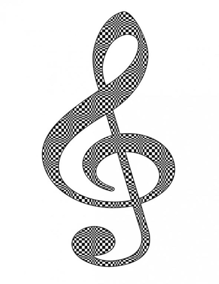 Checkerboard Treble Clef