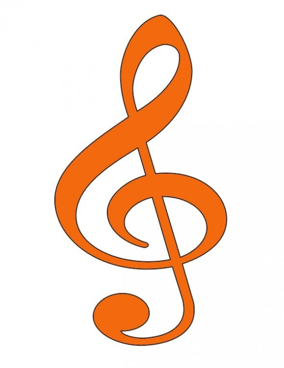 Orange Treble Clef