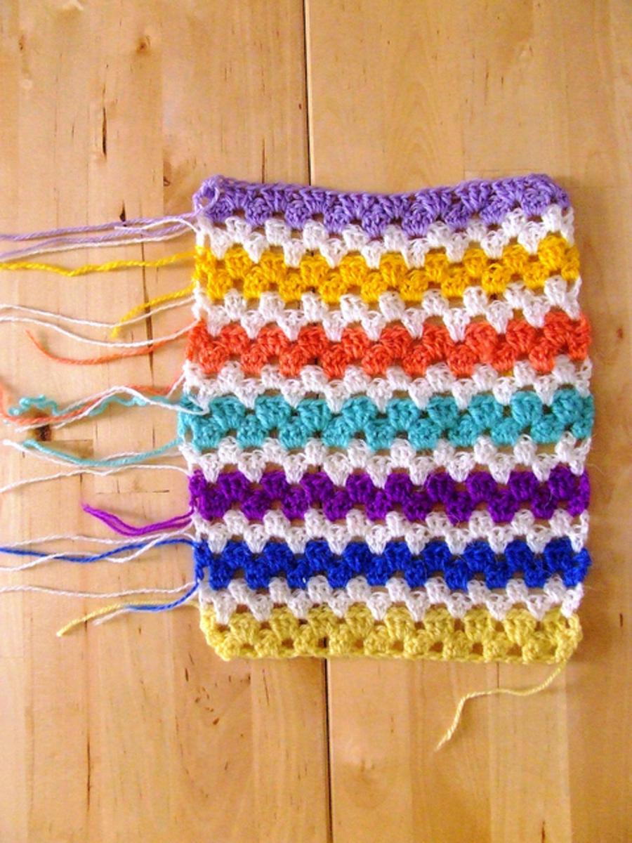 crochet granny stripes