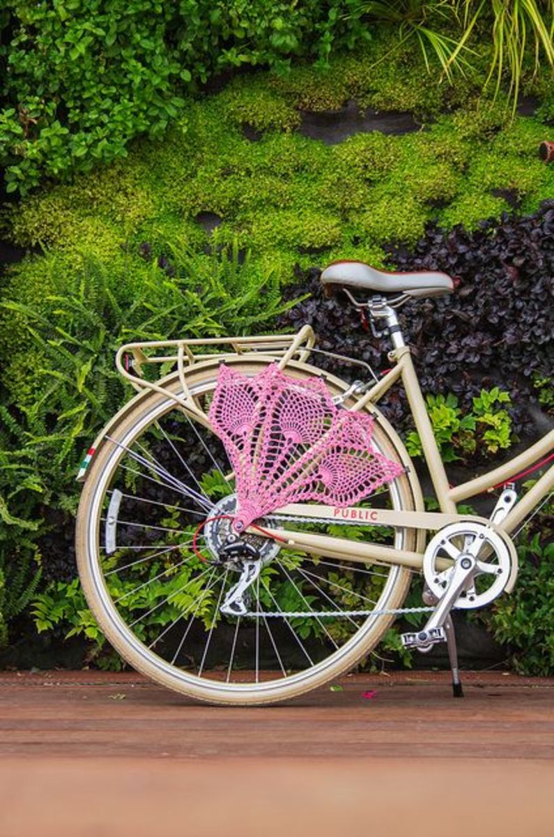 A very cute accessory for a bicycle.