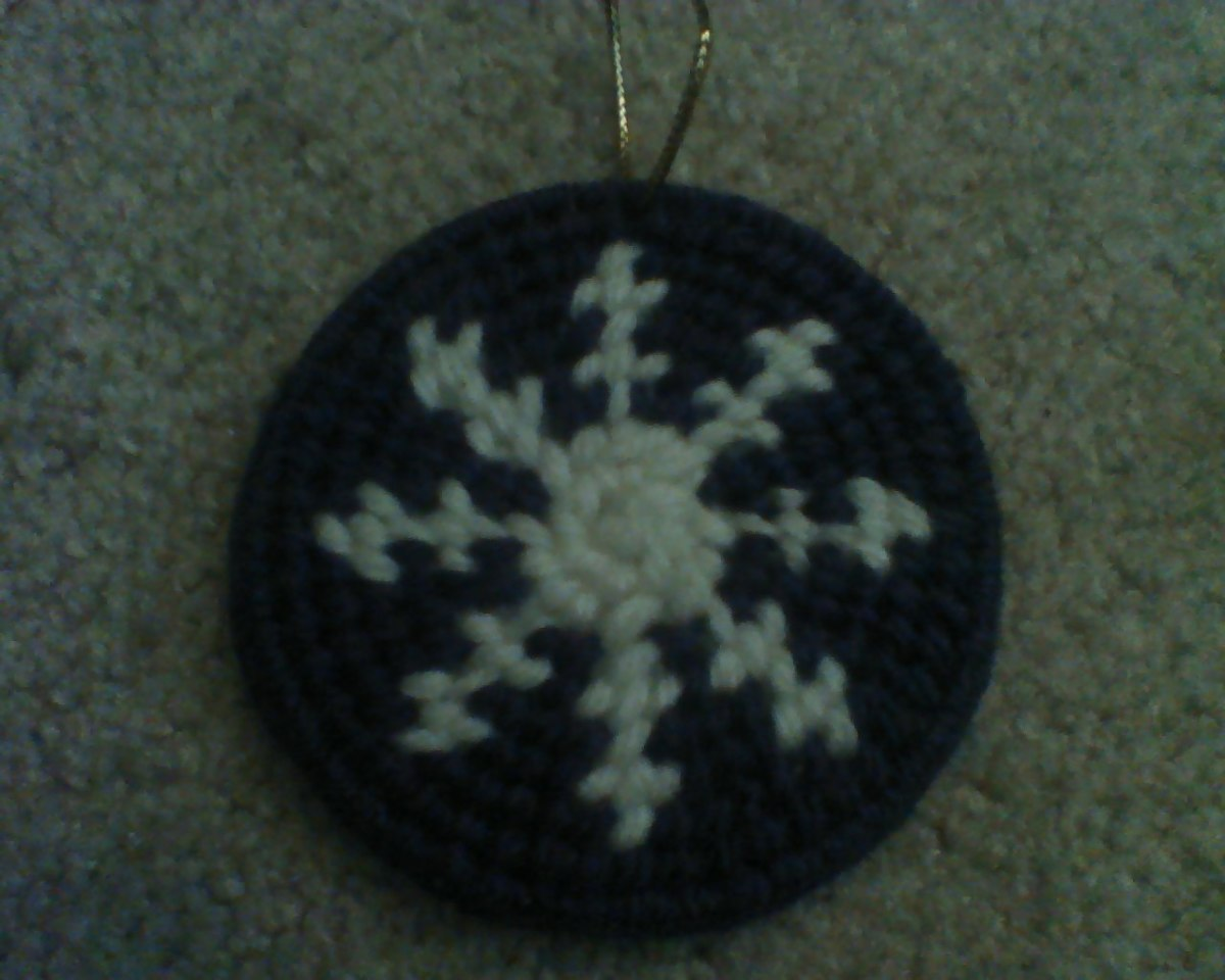 "A single ""snowflake booty"" ornament"