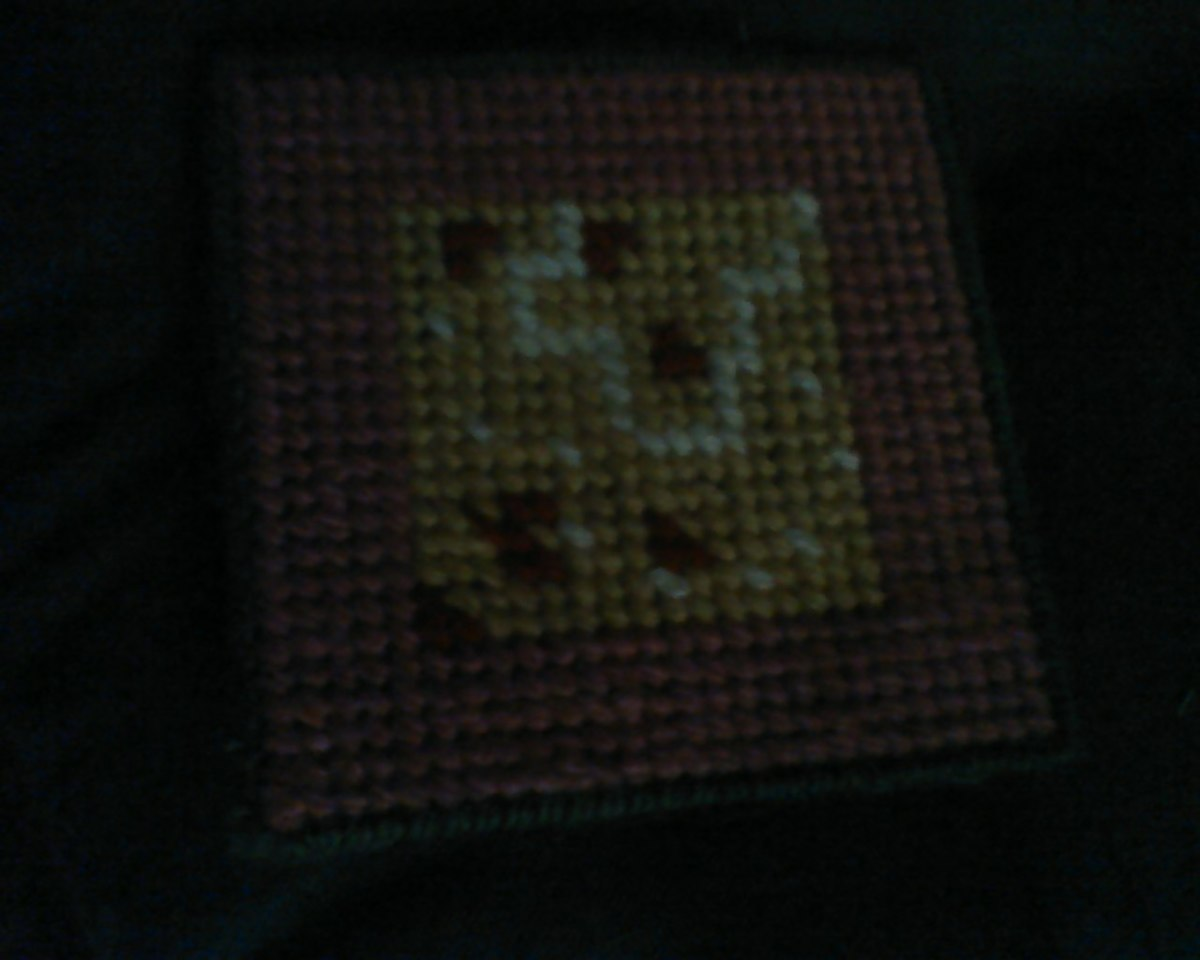 "My ""pearls and rose petals"" coaster"