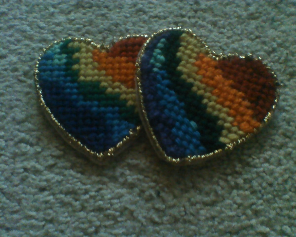Hearts stitched for my daughter's Kindergarten  teachers as an end-of-year 'thank you' gift