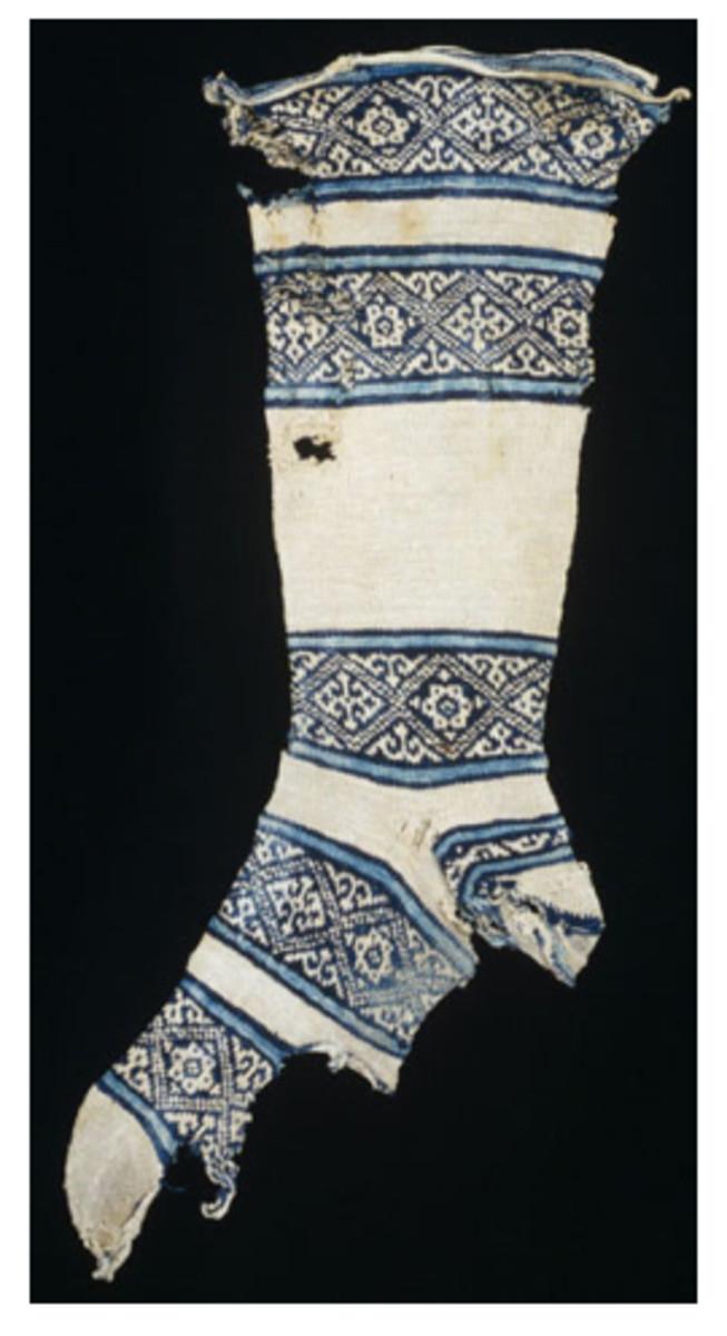 12 century cotton sock found in Egypt