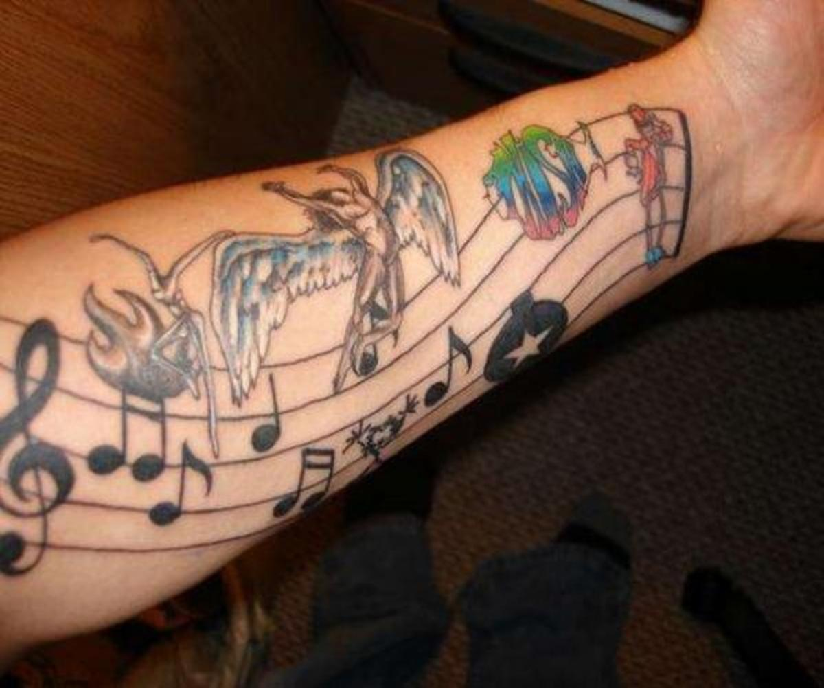Music Note Tattoo Designs | HubPages