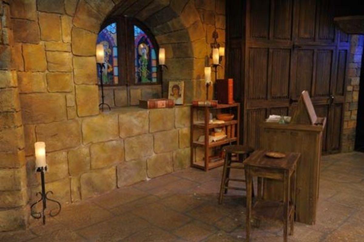 the Romanesque window as built