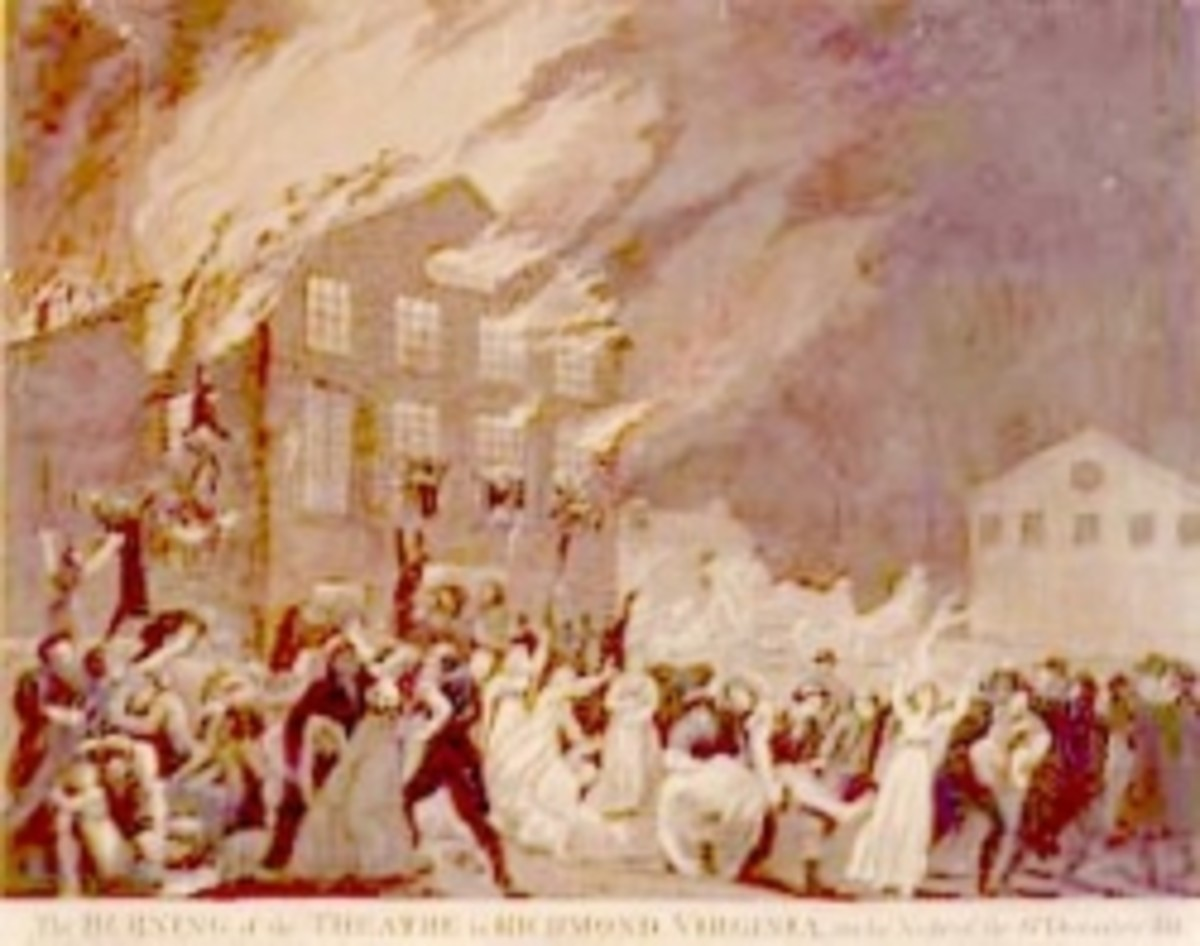 1811 Richmond Theater Fire, from Wikimedia