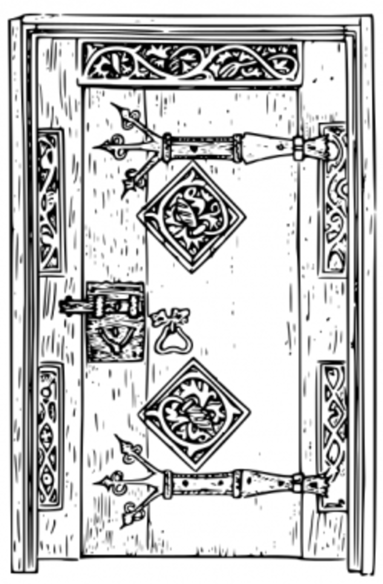 A period correct Medieval door (look! no 6 panels!)