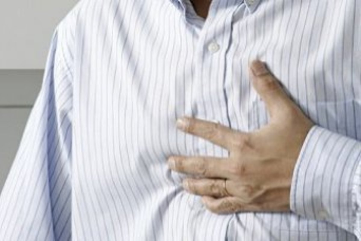 Central chest pain may be a sign of GERD
