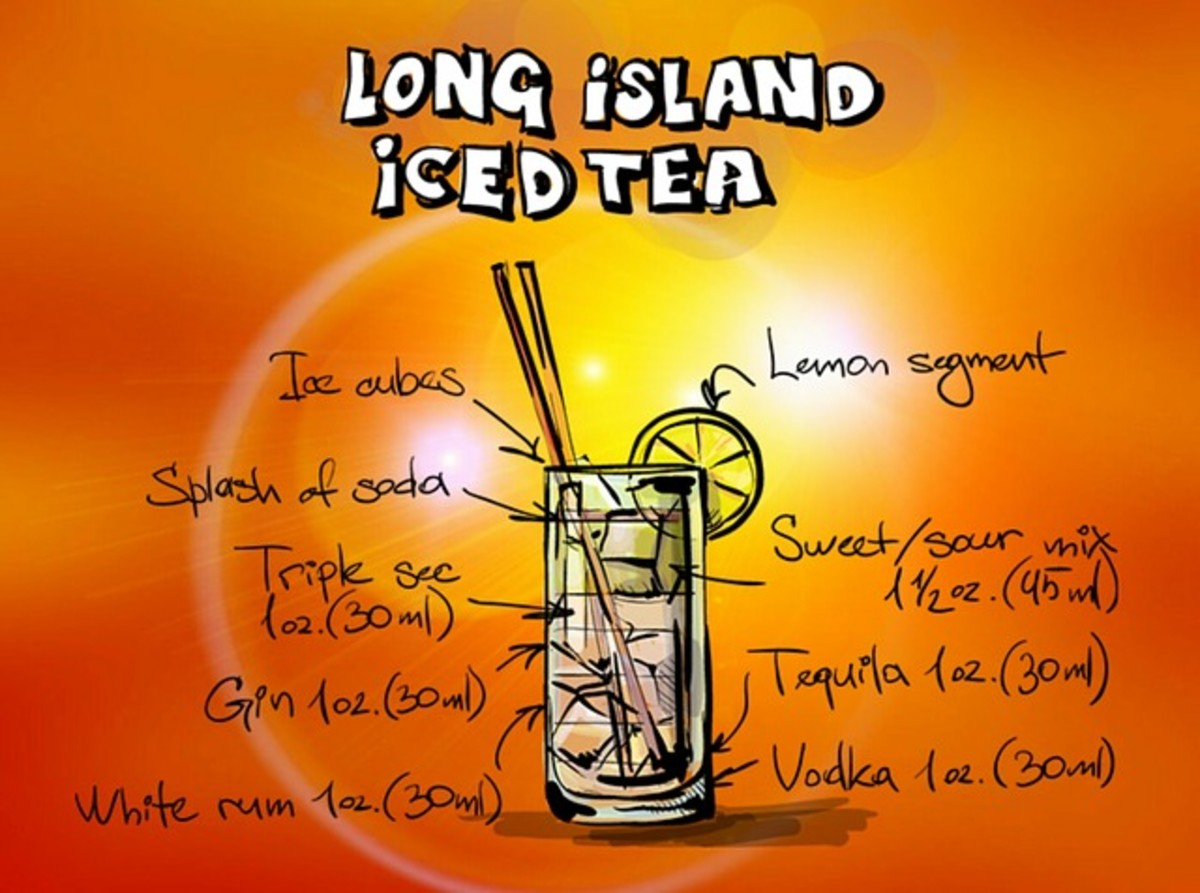 For those who imbibe, a Long Island Iced Tea and Recipe.
