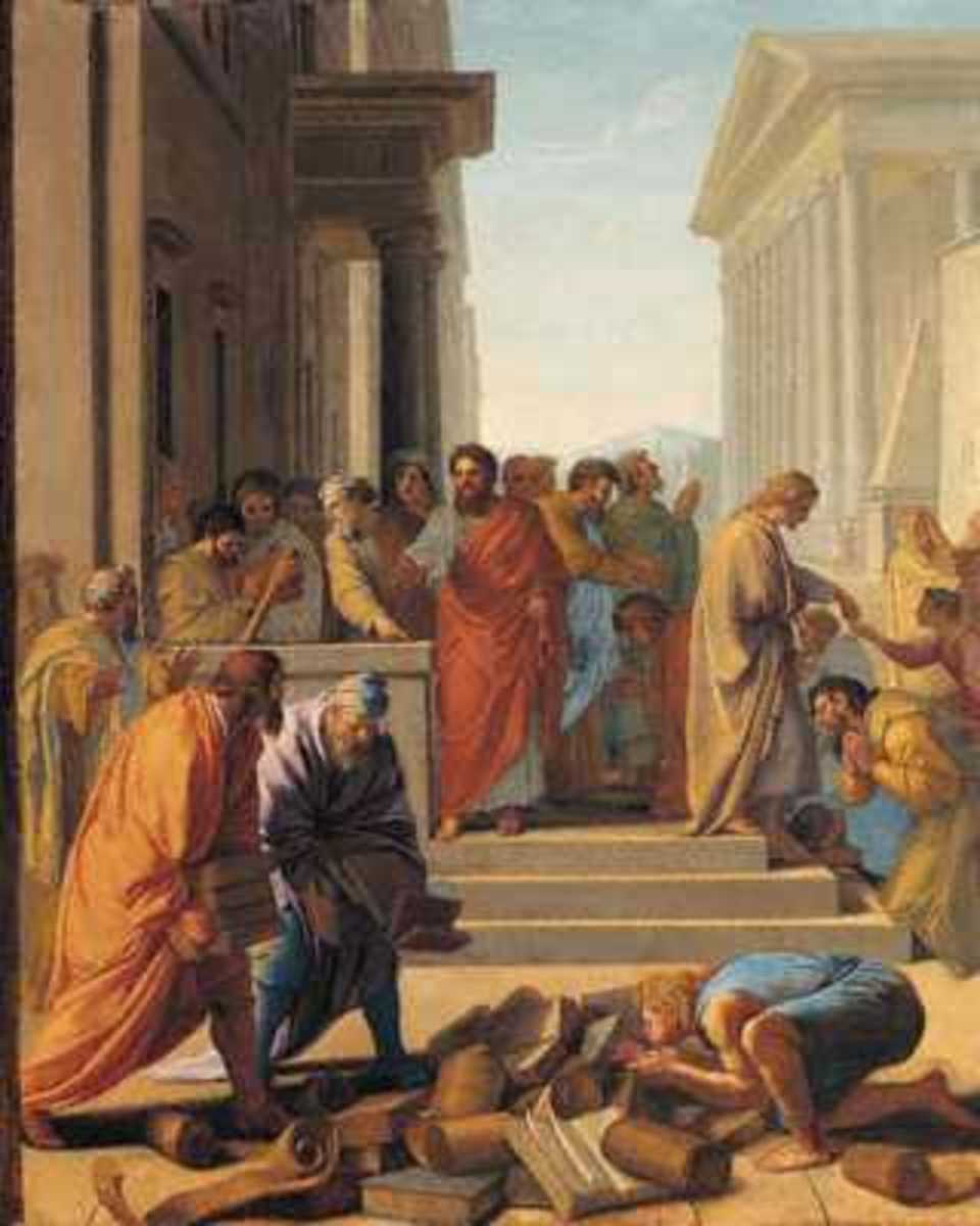 Paul in Ephesus, Eustache Le Sueur (1616-1655)