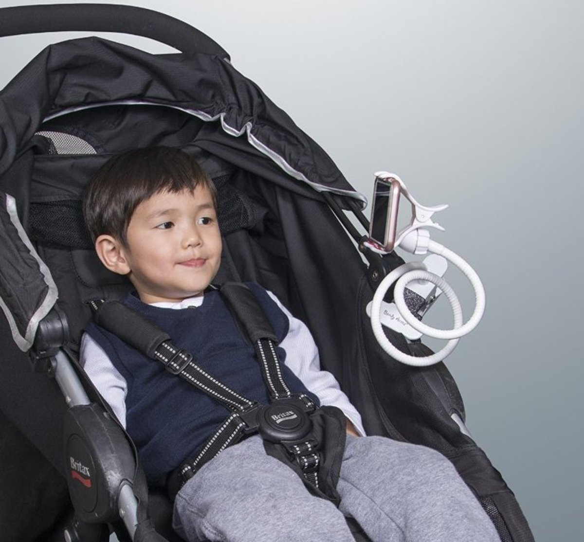 This clip-on holder is the extra hand any mom needs to hold baby bottles, phones, snacks and anything she can think of.