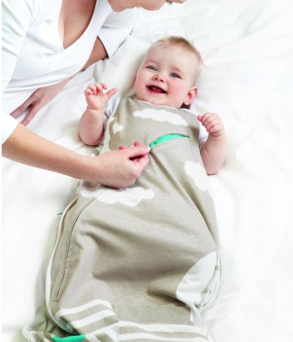 The Inventa Sleep Bag has mesh vents that help control the baby's temperature.