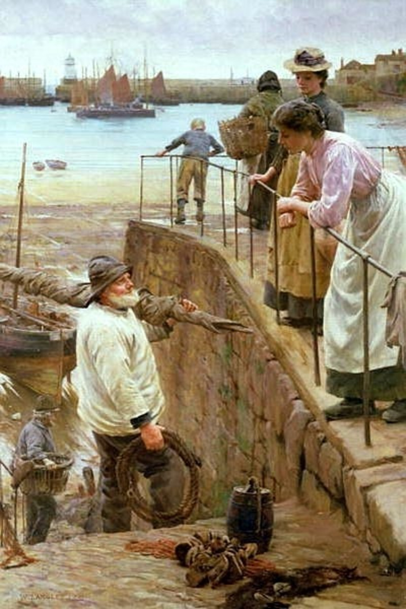 Between the Tides by Walter Langley, 1901