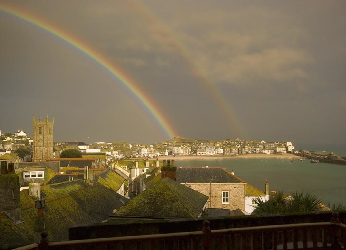 After the storm from decking of St Ives apartment