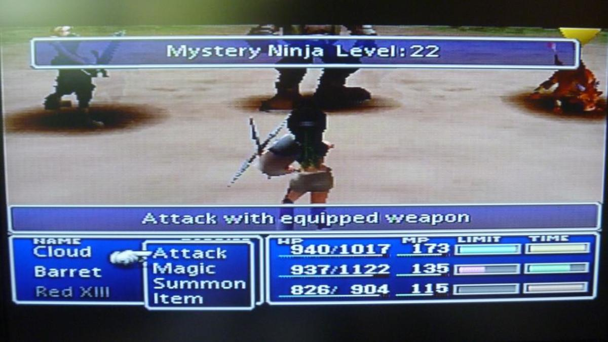 "After plenty of grinding, you will encounter an enemy called ""Mystery Ninja"""