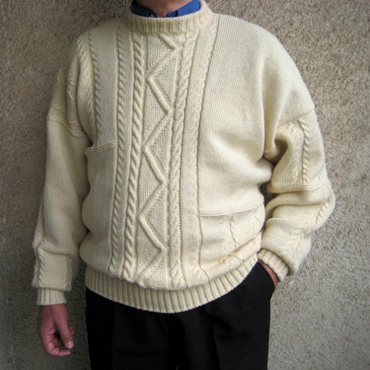 Fisherman Knit Aran Sweater