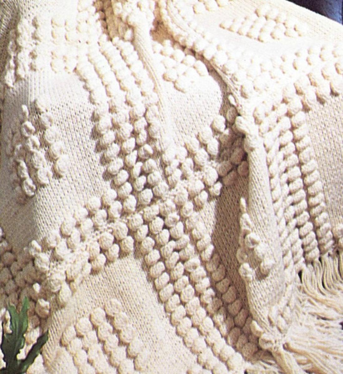 Bobble Stitch Afghan Pattern