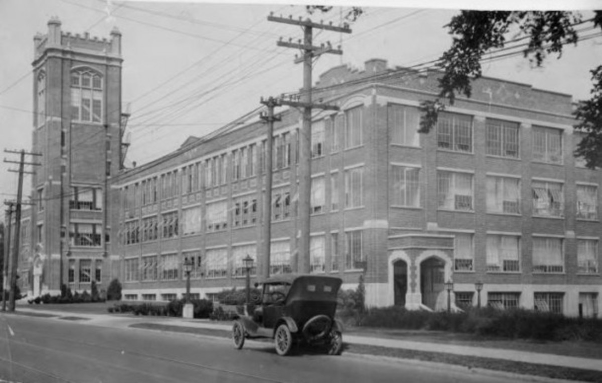 Original Fuller Brush Company Plant in Hartford, Connecticut in 1920s